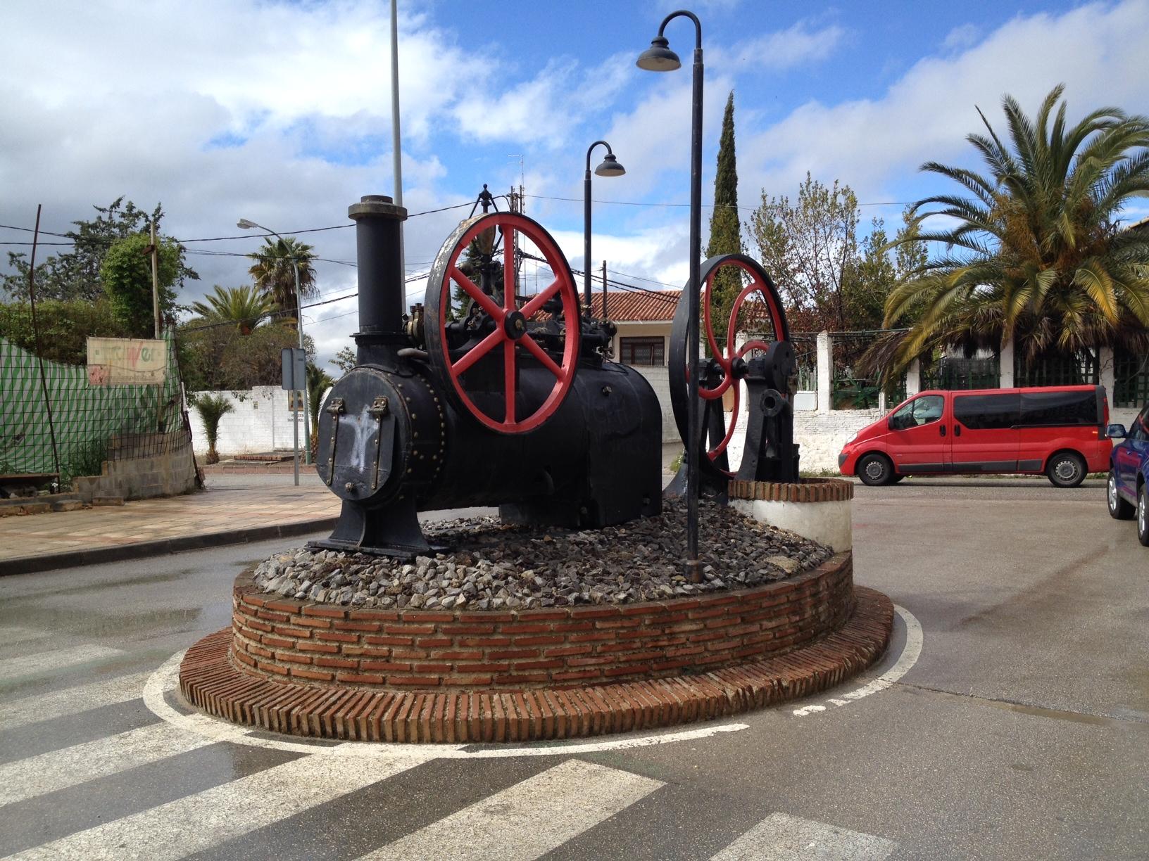 In Martos. Dampflokdenkmal