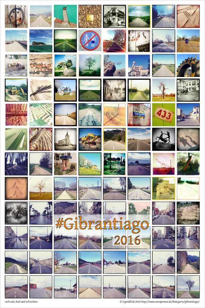 Gibrantiago Dankesposter mit 96 quadratischen Bildern der Reise im Frühjahr 2016
